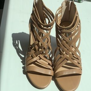 INC strappy sandals